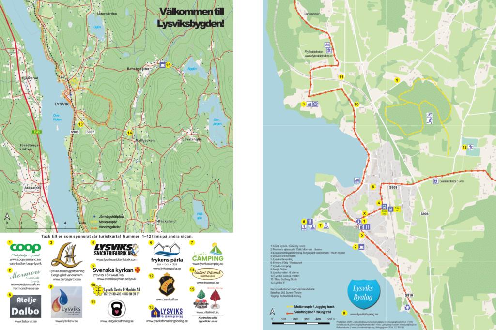 Turistkarta över Lysvik